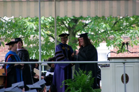 Receiving my Diploma!